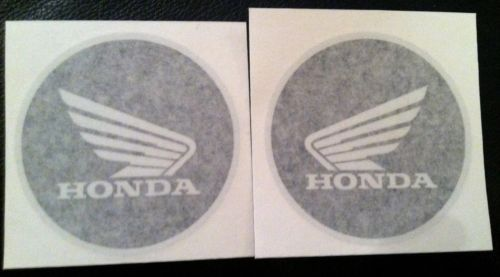 62mm Honda logo 3D Black Raised Fuel Tank Sticker Decal Set of two