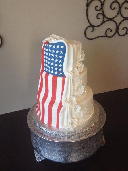 American Flag Wedding Cake Google Search Wedding Cake Table