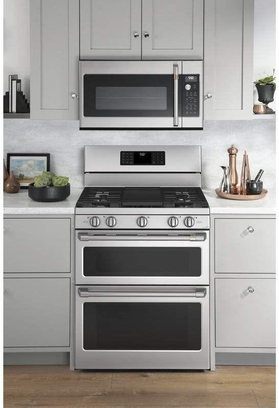 Cafe Smart Appliances 30 7 Cu Ft Smart Freestanding Gas Range With Griddle Gas Range Double Oven Double Oven Range Convection Range