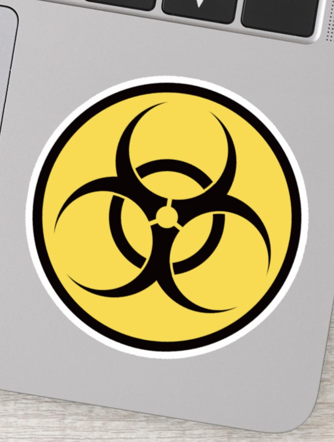 Biohazard symbol sticker Biohazard symbol