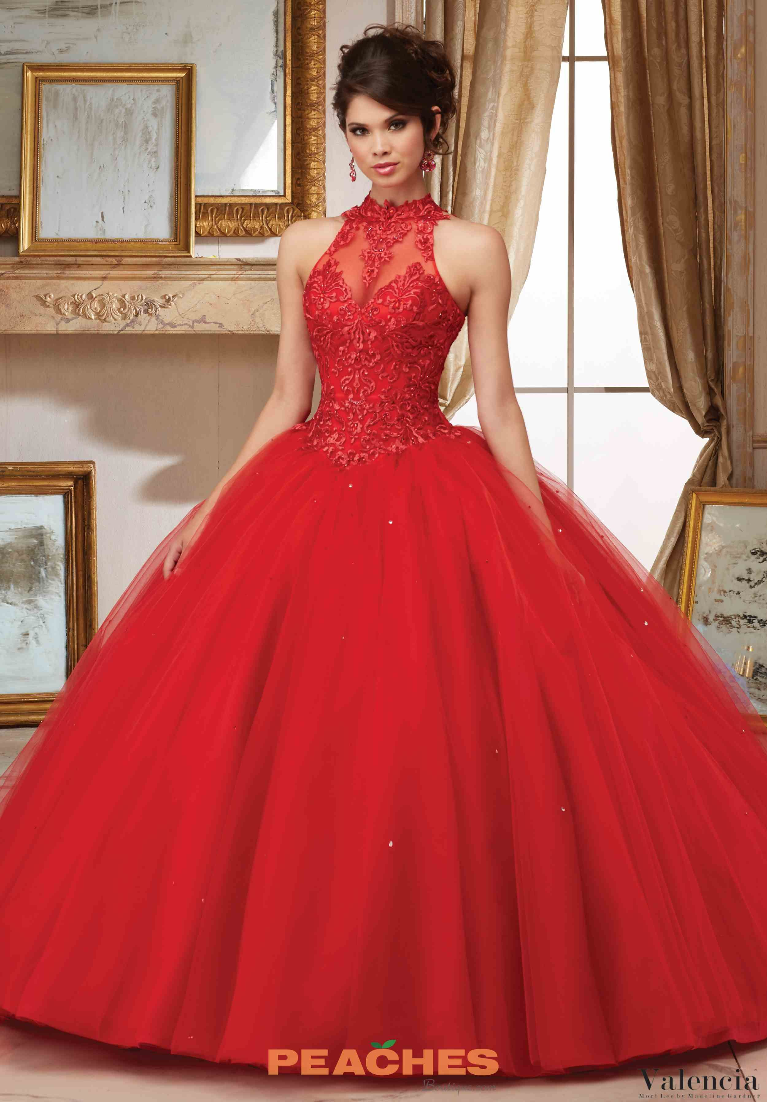 20afae2d2a Valencia Quinceanera Halter Neckline Beaded Gown 60004