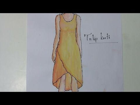 f4366ab4f87a Tulip Kurti cutting pattern making sewing DIY tutorial explained (part1) -  YouTube