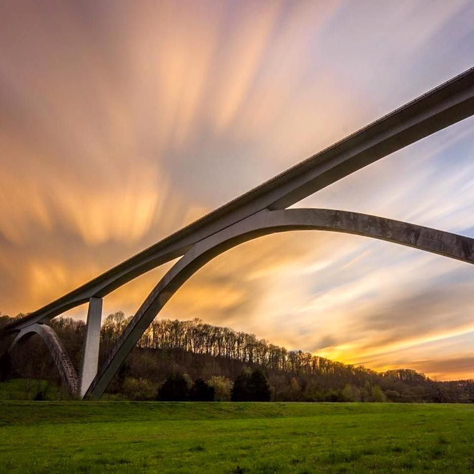 Sunset Along The Natchez Trace Parkway Double-Arched