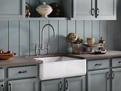 Kohler Whitehaven Single Basin Tall Apron Cast Iron Undermount