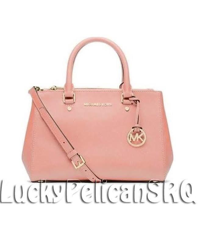 4e029c6ded29a Michael Kors Sutton SMALL Saffiano Leather Satchel Bag Handbag PALE PINK  NWT  MichaelKors  Satchel