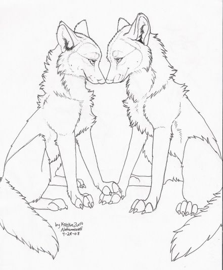 FREE Wolf Love LineArt by NatsumeWolf on DeviantArt | wolves | Pinterest
