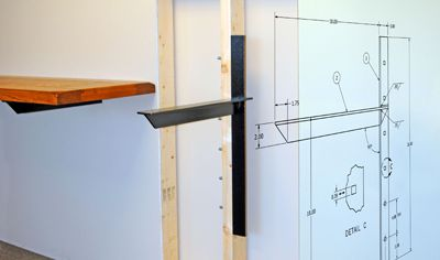 A And M Hardware Concealed Shelf Counter Supports Wall Mounted