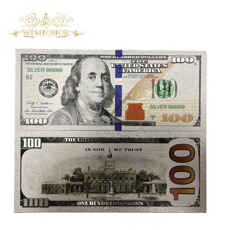 Cheap Gold Banknotes Buy Directly From China Suppliers 10pcs Lot Nice Silver Plated American Banknotes 100 Dollar Bills Bank Notes 100 Dollar Bill Dollar Bill