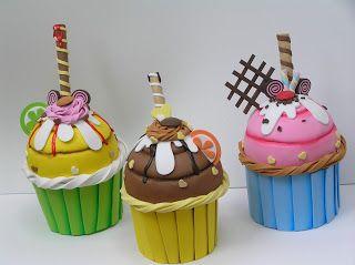 3baed5ef5 Helados de goma eva | Foami | Cupcakes, Cupcake crafts y Foam crafts