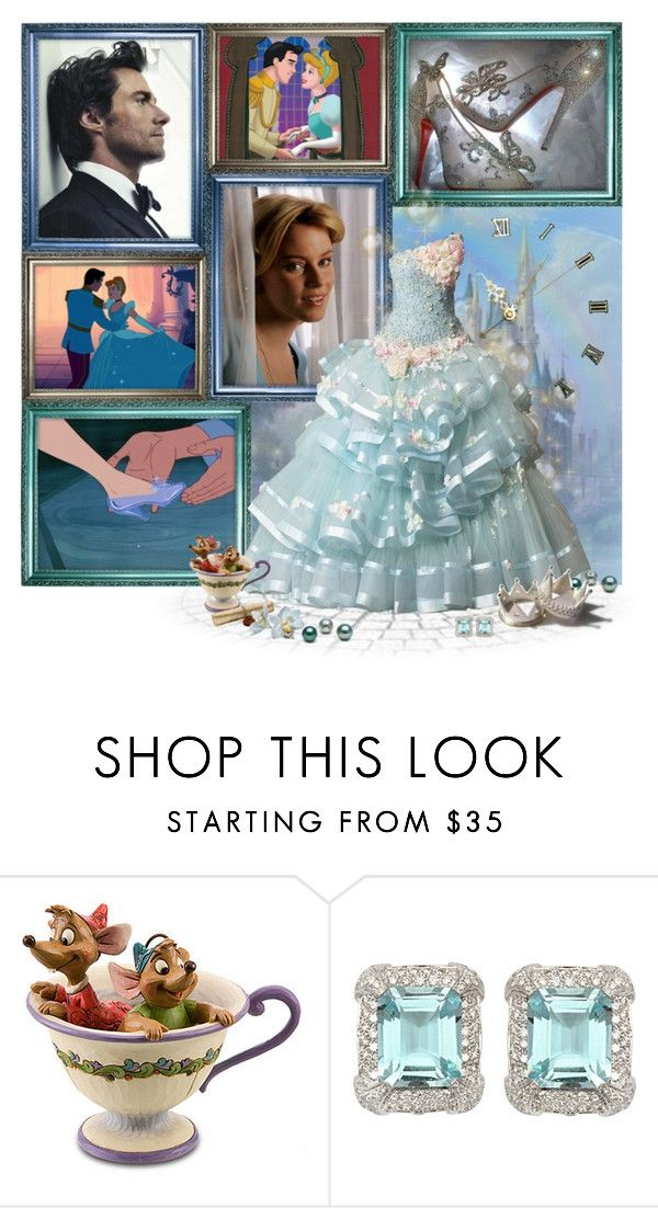 """""""8/50: Prince Charming & Cinderella"""" by riley5 ❤ liked on Polyvore featuring Disney, Allegri Milano, Christian Louboutin, Jim Shore, W Collection, BOBBY, dreamcast, wedding rings, elizabeth banks and hugh jackman"""