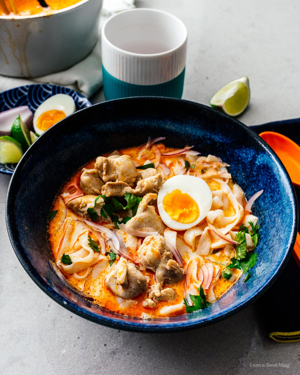 low carb keto-friendly thai red curry shirataki noodle soup #soup #thai #recipes #shirataki #curry #keto #lowcarb #keto recipes #ketosoups