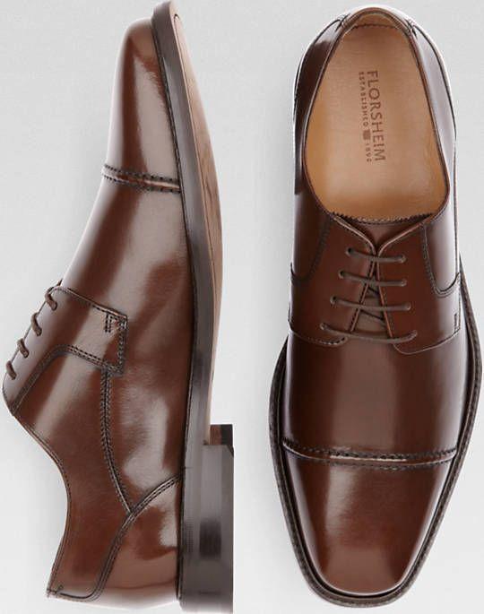 Florsheim Asset Brown Lace Up Cap Toe Dress Shoes - Dress Shoes ...