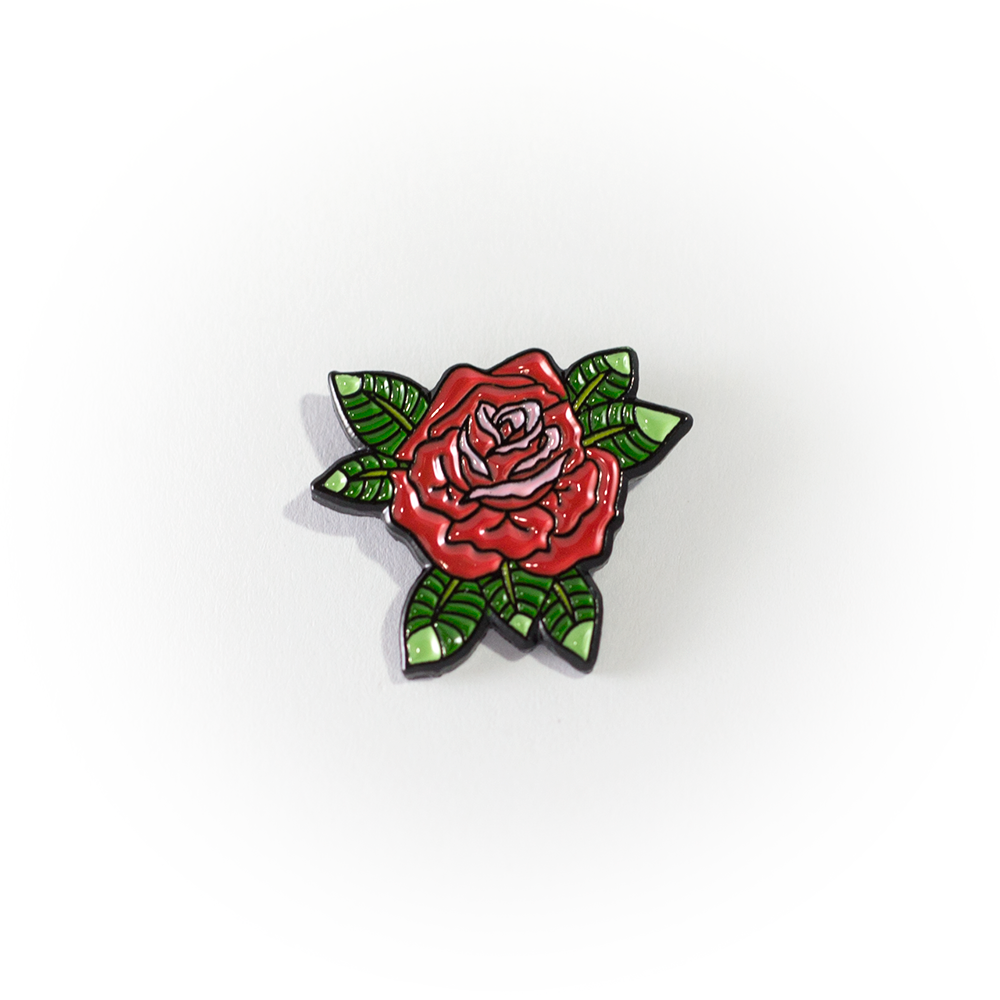Rose Pin Pin, patches, Button tattoo, Disney trading pins