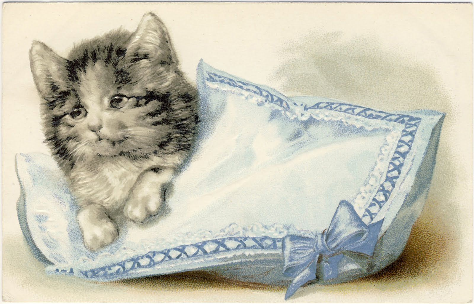 Vintage Clip Art Adorable Cats Kittens The Graphics Fairy Cute Cats Cats And Kittens Kitten Pictures