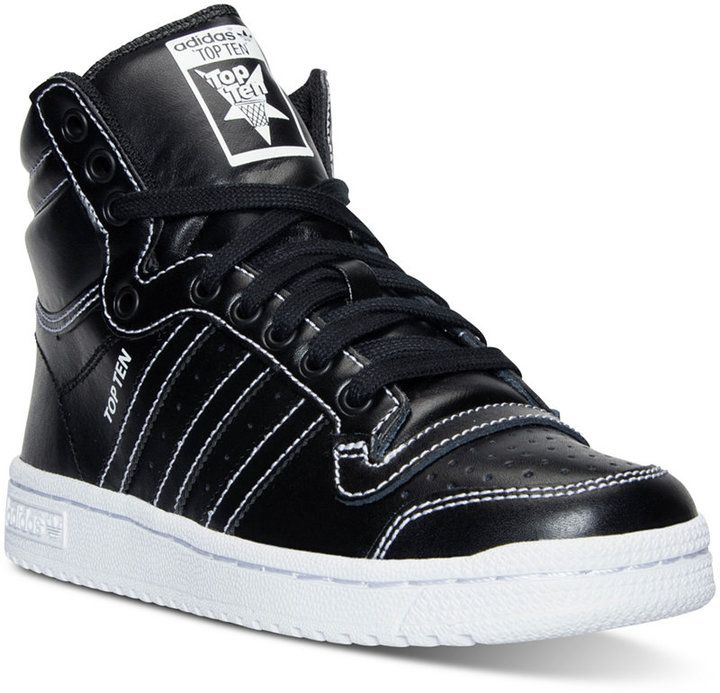 adidas Boys' Top Ten Hi Casual Sneakers from Finish Line