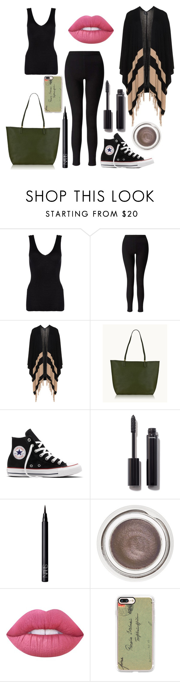 """""""* GOING COMFY CHIC by bOO *"""" by boo-sandra on Polyvore featuring Hanro, Miss Selfridge, Yoek, GiGi New York, Converse, Chanel, NARS Cosmetics, Charlotte Tilbury, Lime Crime and Casetify"""