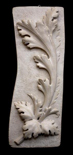 Acanthus Wall Detail – Item #641 – White Patina
