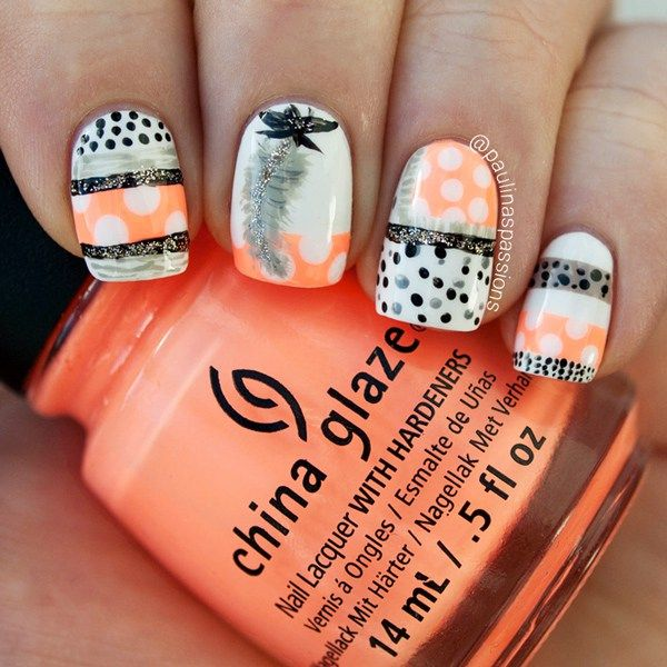 4 Fashionable Manicure Trends for Summer: #No.3 Dots and Stripes