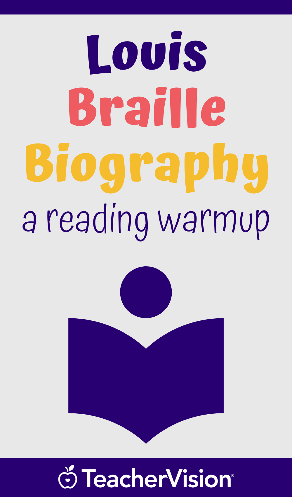 Louis Braille Biography Printable Reading Warm Up For Grades 5 6 Reading Comprehension Questions Reading Warmups Reading Comprehension [ 1700 x 1000 Pixel ]