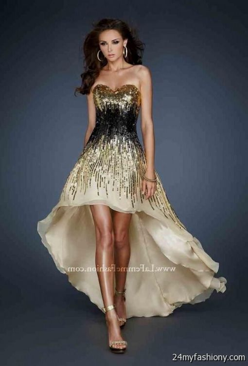 black and gold high low prom dress 2016-2017 » B2B Fashion ...