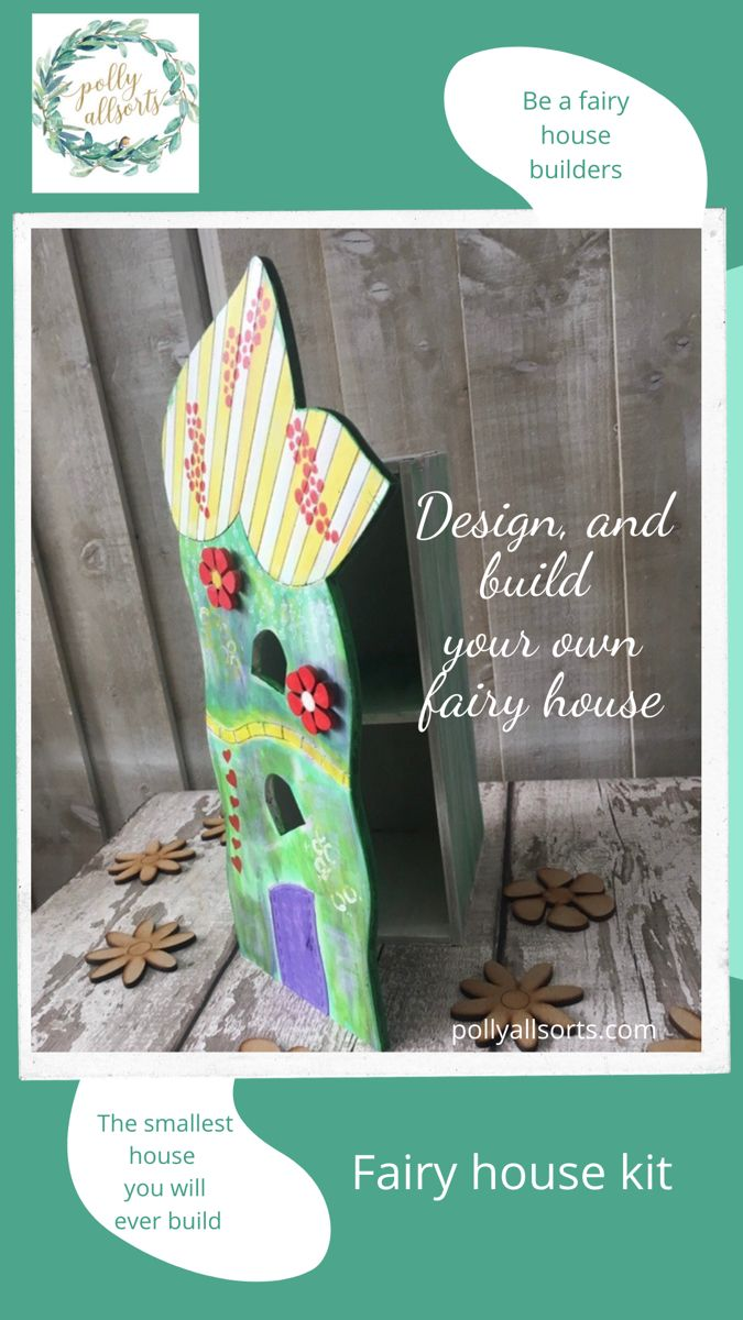 Build and create your own fairy house, add furniture and furnishings and voila. An enchanted little fairy home. #fairyhouse #fairygardenideas #crafts #pollyallsorts #christmasgiftideas
