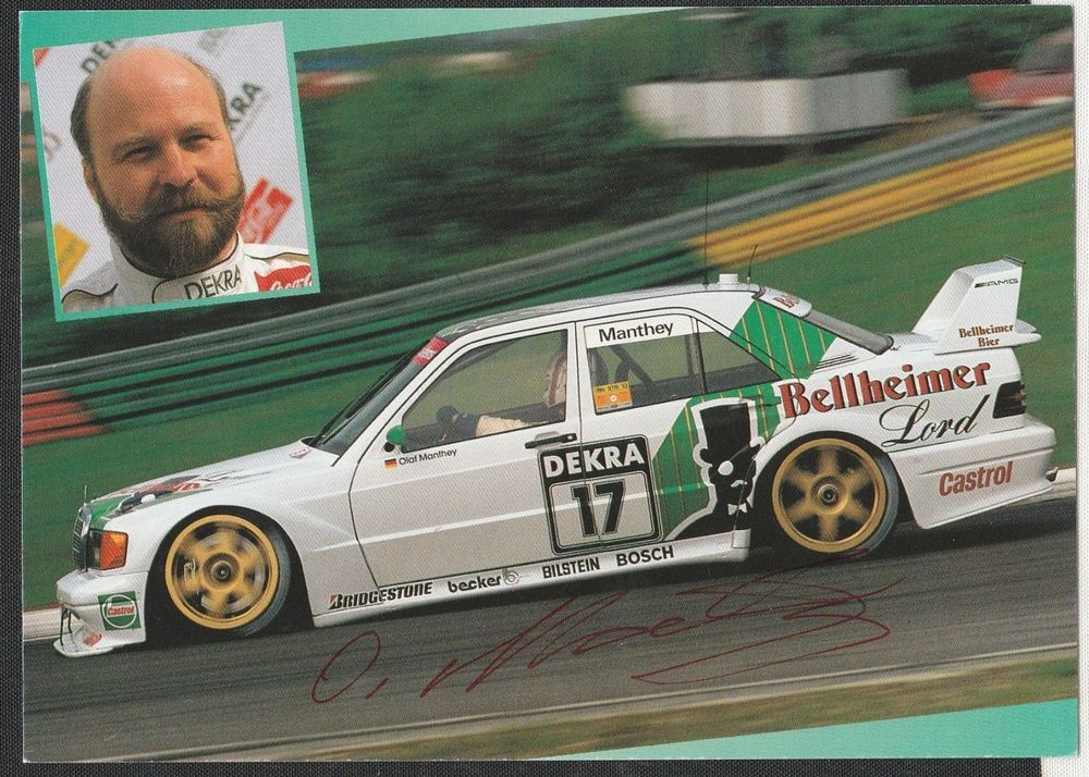 Details about HAND SIGNED OLAF MANTHEY ORIGINAL AUTOGRAPH PHOTO CARD