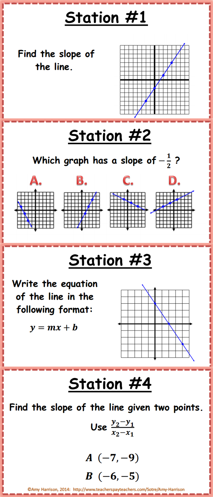 Slope And Linear Equations Stations 8eeb6 Interactive Notebooks Electromagnetic Relay Equation 20 Questions