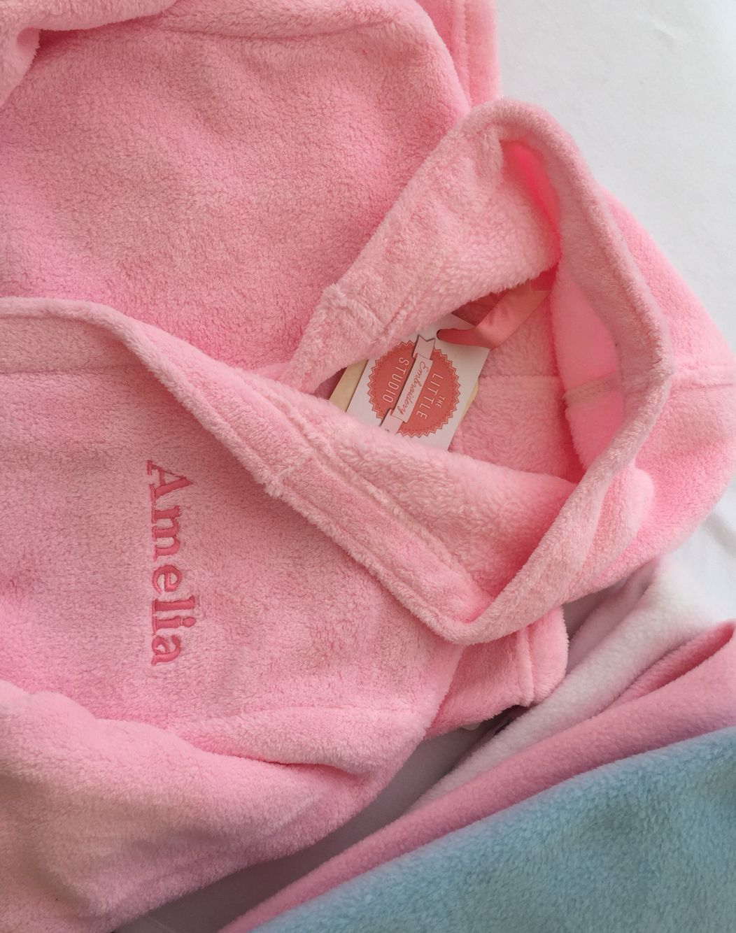 Personalised Embroidered Child Dressing Gownrobe The Little