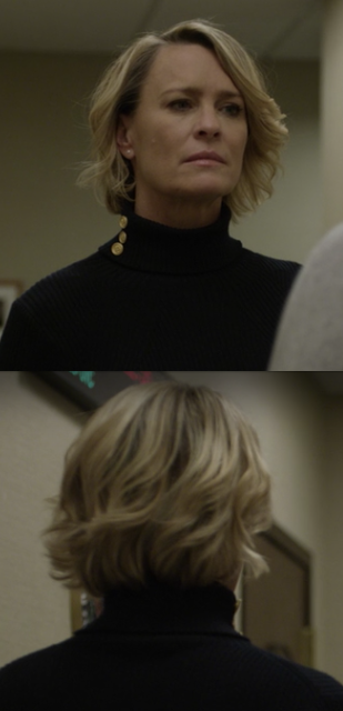 Robin Wright Claire Underwood Haircut 2017 House Of Cards Season 5