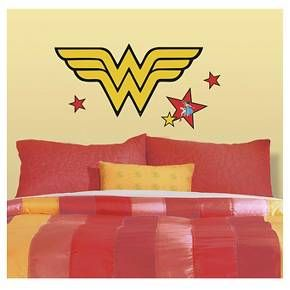 RoomMates Classic Wonder Woman Logo Peel And Stick Giant Wall - Superhero wall decals target