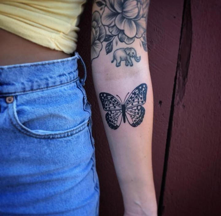 Butterfly tattoo by emily from monolith tattoo studio