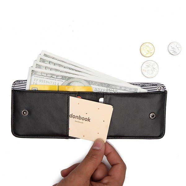 0e3d3bb60f465 Women Hasp Card Holder Business Neck Name Cards Coin Bags Portable Purse  Wallets