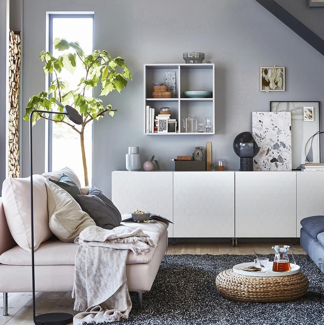 Ikea Deutschland On Instagram Typisch Scandi Mit Leichten Farben SÖderhamn Meinikea Ikea Apartment Living Room Living Room Storage Ikea Living Room