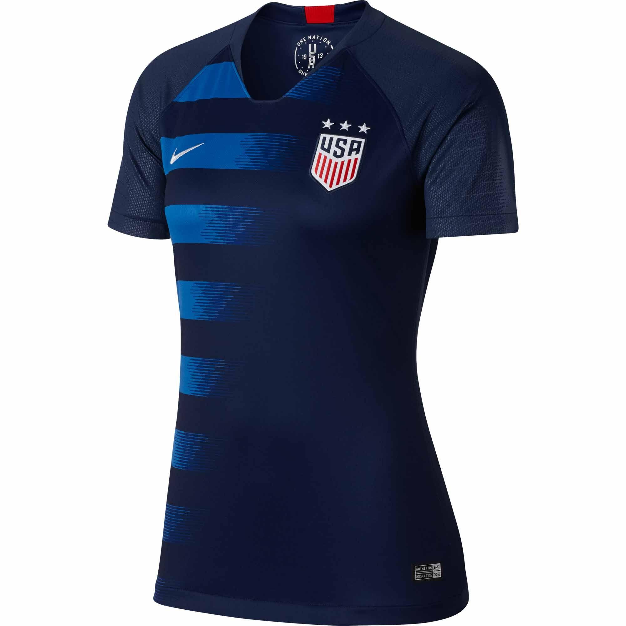 Nike Usa Away Jersey Womens 2018 19 Soccerpro Com Womens Soccer Soccer Nike Women