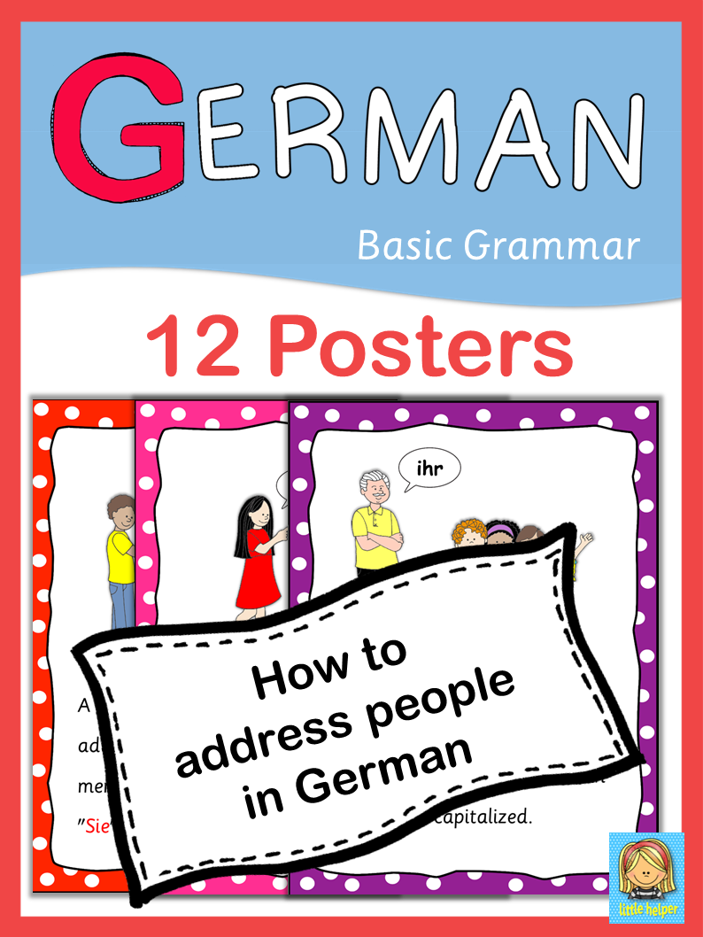 German basic grammar how to address someone 12 posters german german basic grammar how to address someone 12 posters kristyandbryce Choice Image