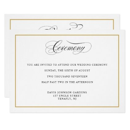 Elegant calligraphy gold ceremony directions card calligraphy elegant calligraphy gold ceremony directions card wedding invitation stopboris Choice Image