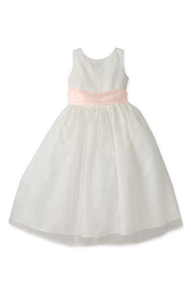 50963cb350f36e Us Angels Sleeveless Organza Dress (Toddler Girls