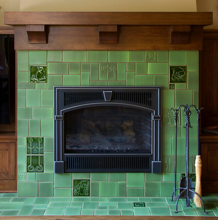 32++ Arts and crafts tile fireplace surround ideas