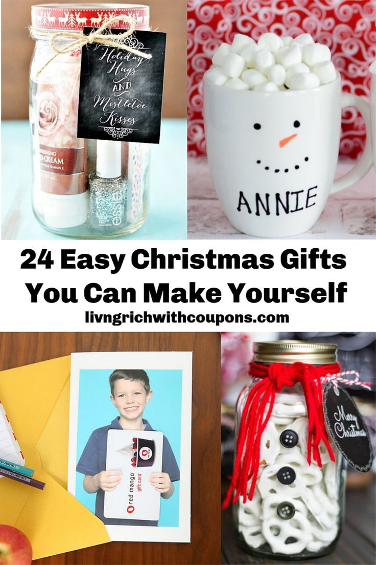 24 Easy Christmas Gifts You Can Make Yourself In 2020 Diy Teacher Christmas Gifts Easy Christmas Gifts Christmas Gift You Can Make