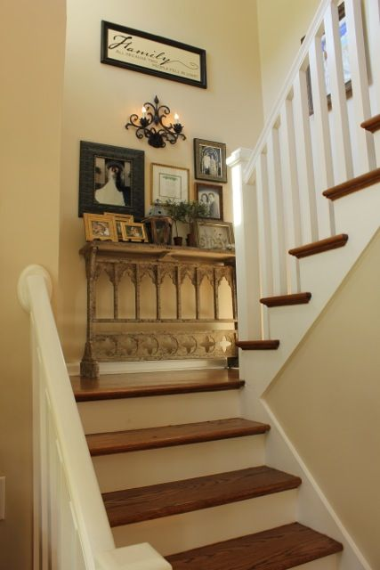 My foyer for the house pinterest stair landing decor foyer and landing decor for Home designer stairs with landing