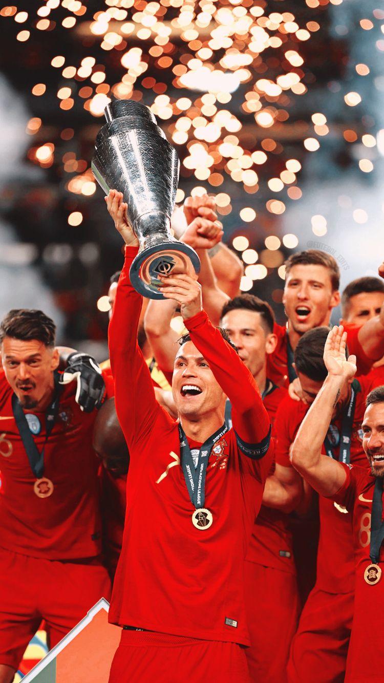 Portugal National Team Wallpaper - Cristiano Ronaldo lifts ...