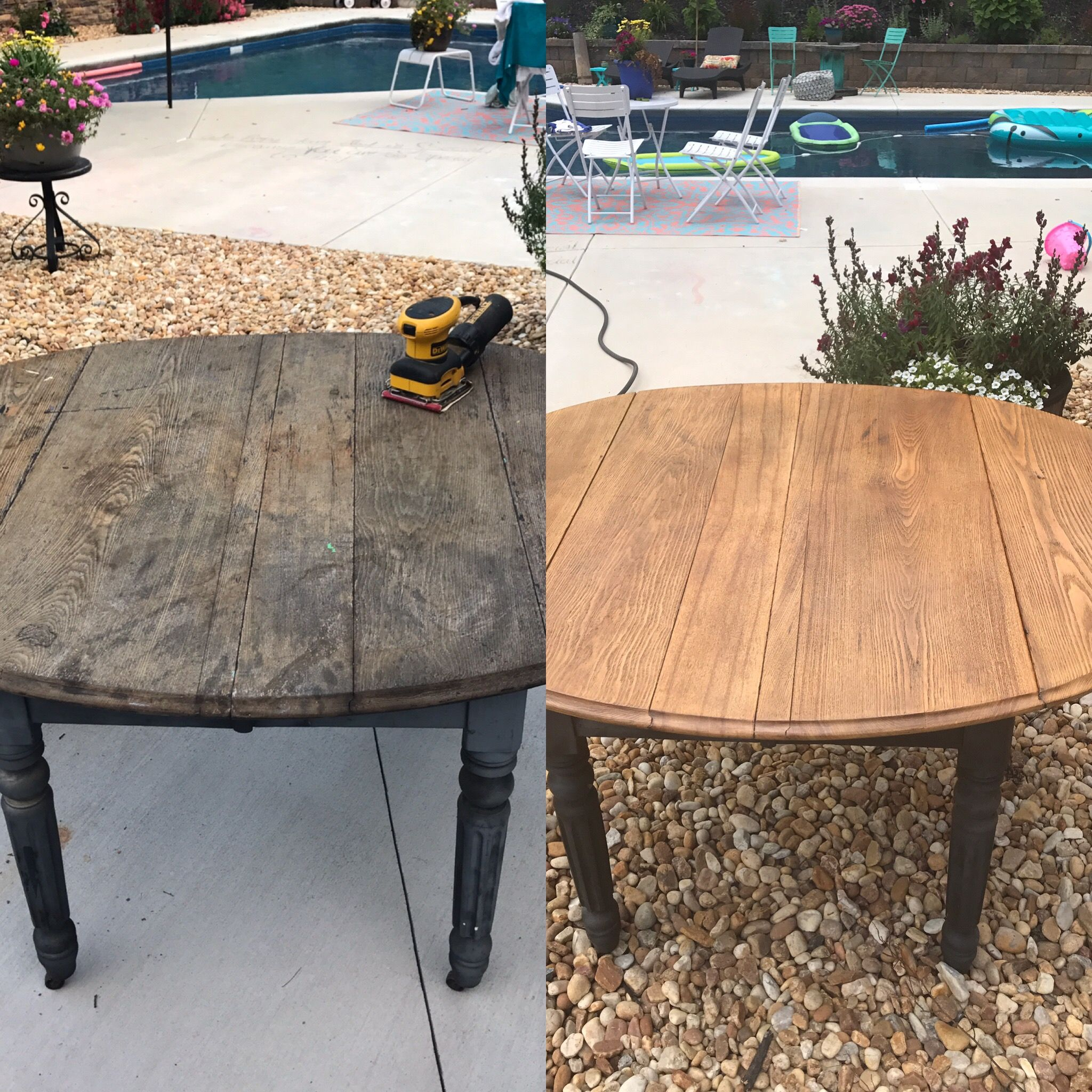 Weathered Porch Dining Table Overhaul