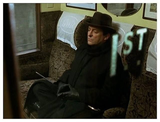 Image result for jeremy brett holmes and watson on train
