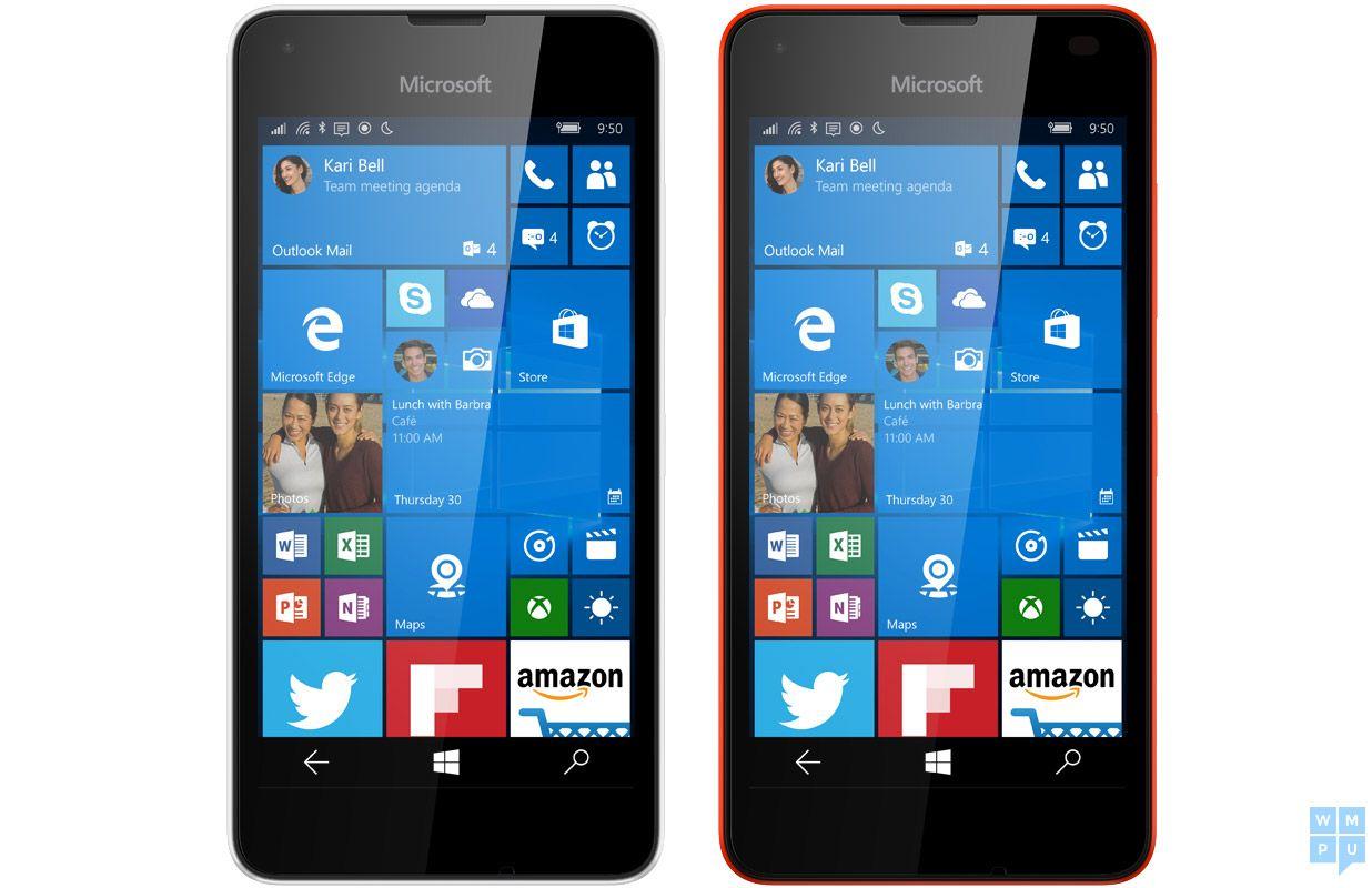 Microsoft Lumia 550 running Windows 10 Mobile leaks