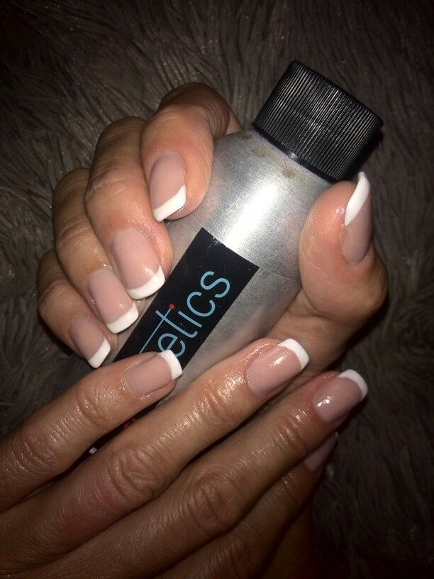 Acrylic french overlay... | nails by Rammi | Pinterest | Overlay