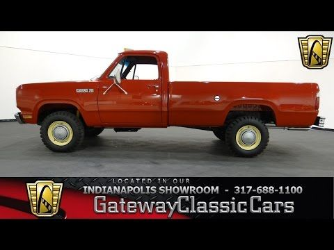 1978 Dodge D200 Power Wagon Gateway Classic Cars Indianapolis 502ndy Power Wagon Dodge Classic Cars