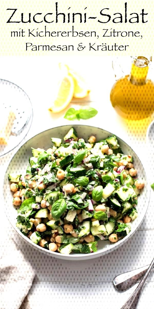 Zucchini Salad with Chickpeas, Lemon and Parmesan | Elle Republic - This simple recipe for a zucch