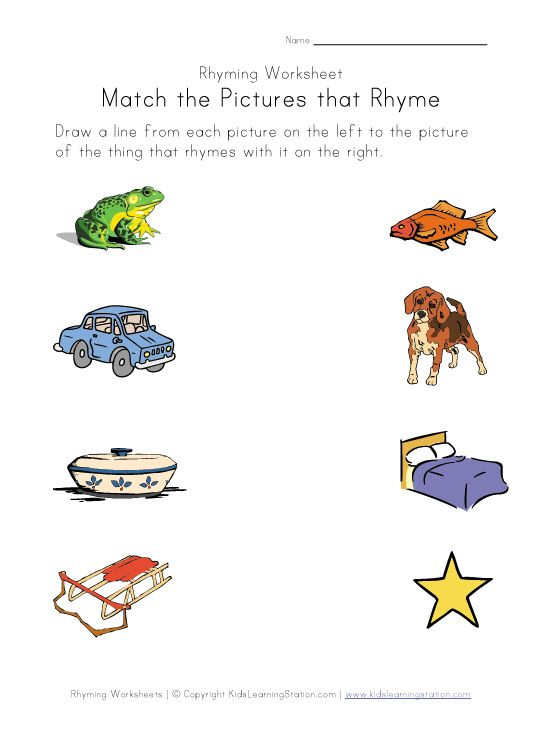 The preschoolers are learning rhymes and patterns this week And – Rhyming Kindergarten Worksheets