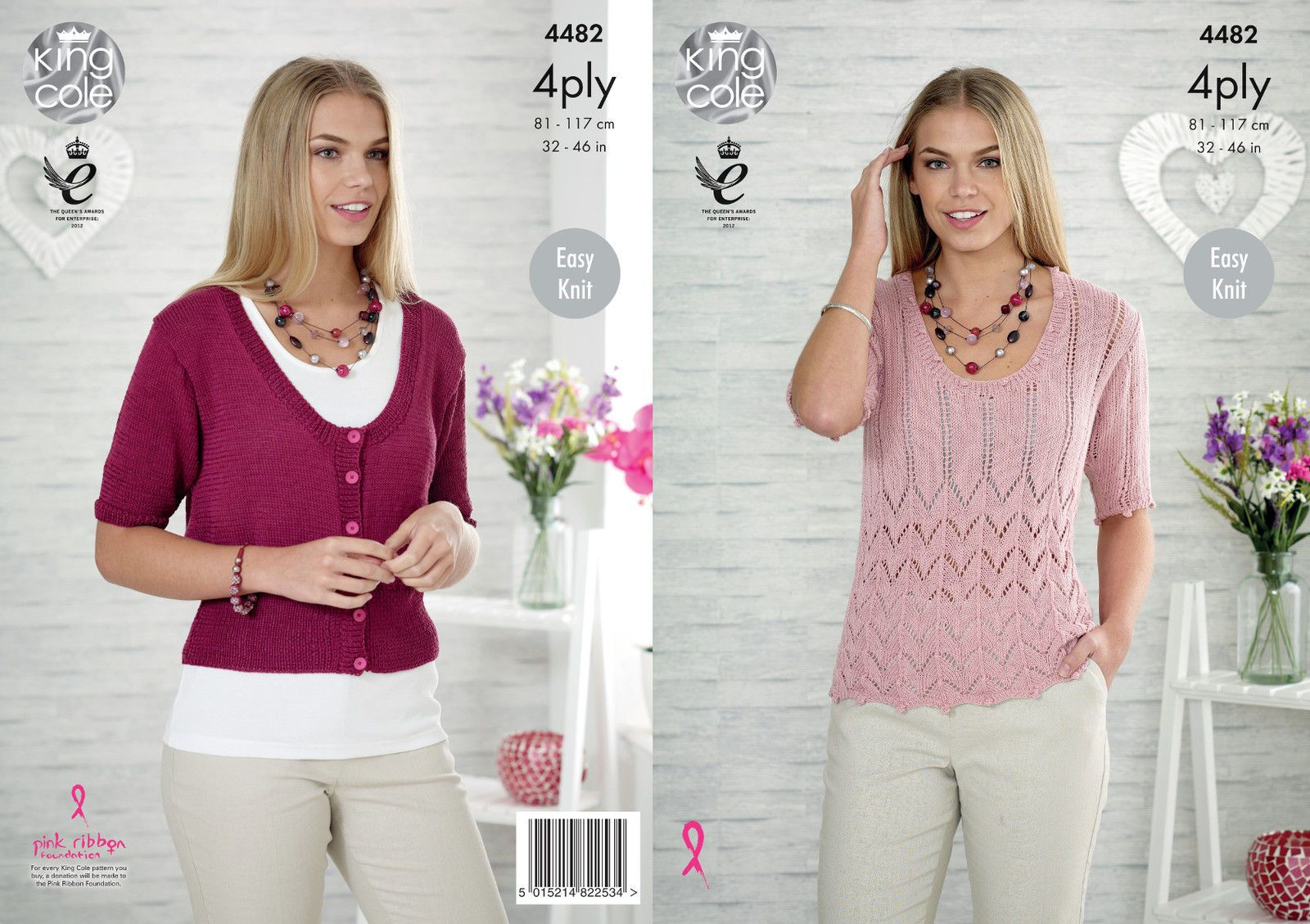 40b17a1dc £3.89 GBP - King Cole Womens 4 Ply Knitting Pattern Easy Knit Ladies Lace  Top