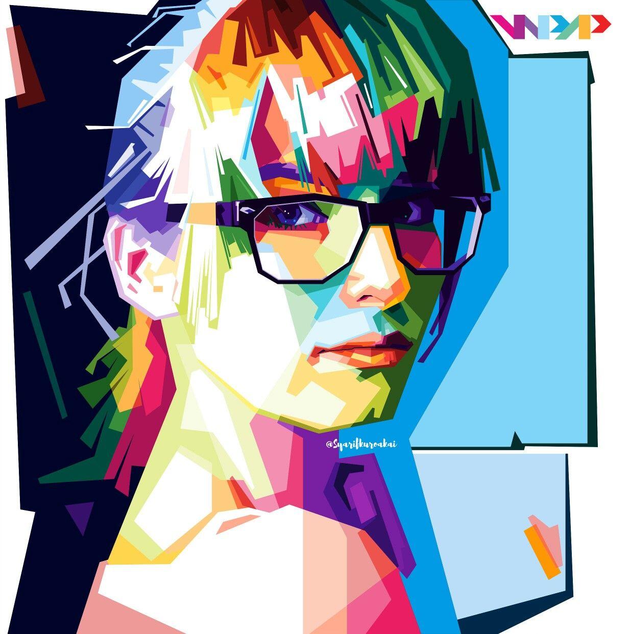 model eyeglasses women in wpap by.syarifkuroakai | pop art